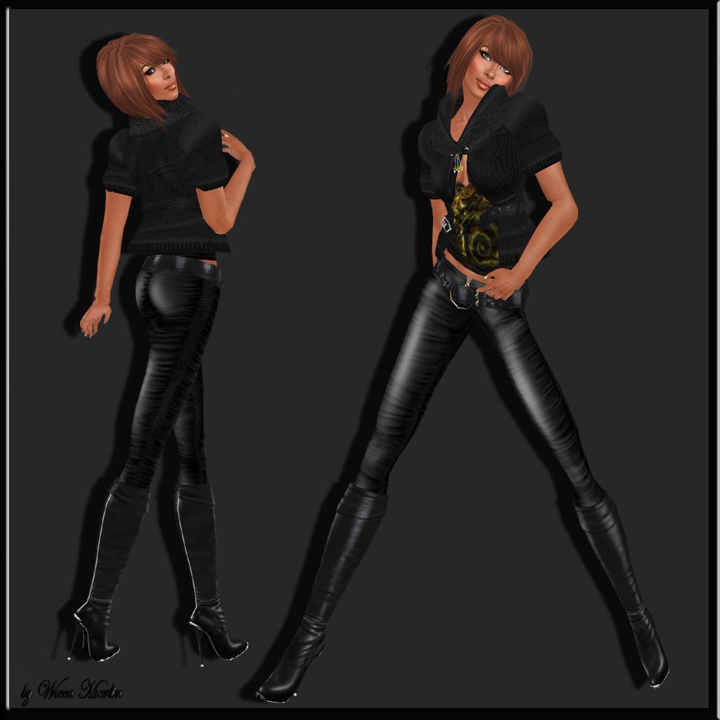012 - Ibizarrre - Black Knit Jacket SET
