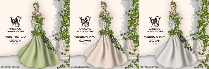 Ivy Gown Blog with letters