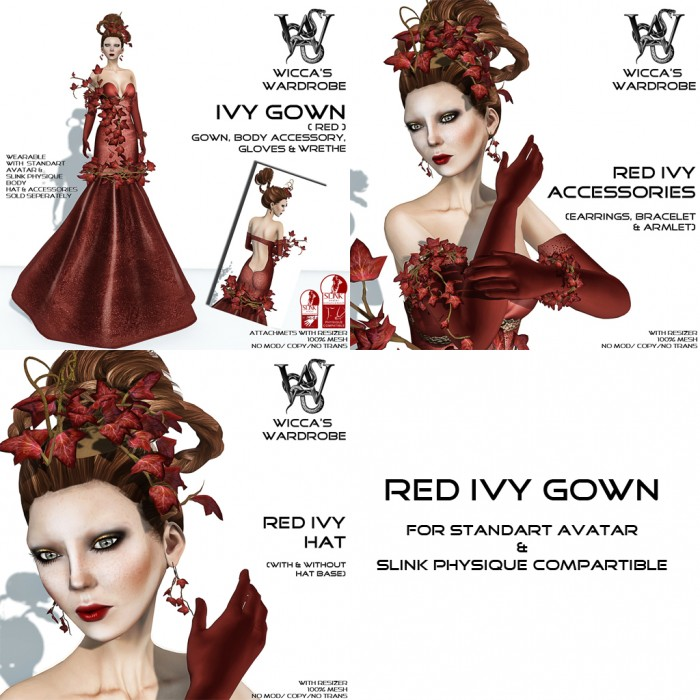 NEW @ WW - Red Ivy Gown