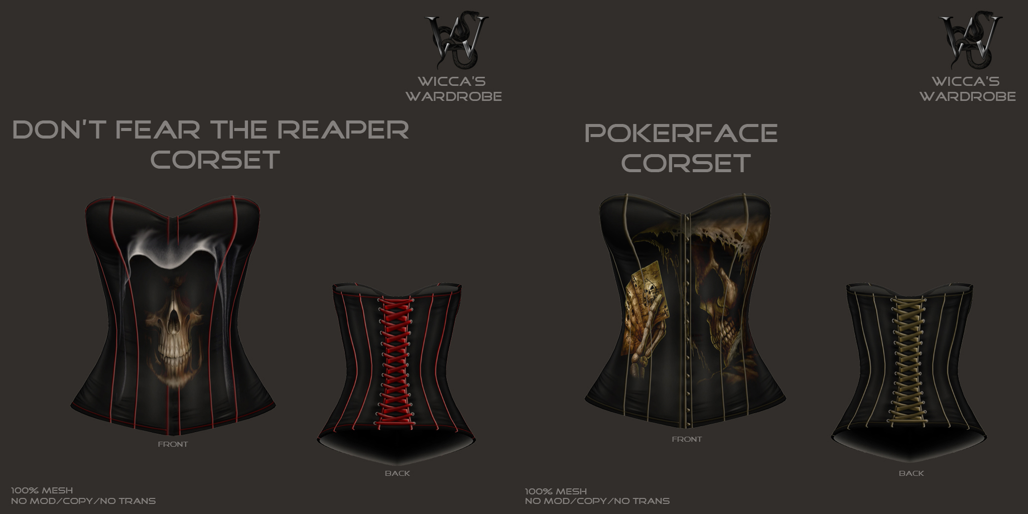 Reaper-Pokerface Corsets