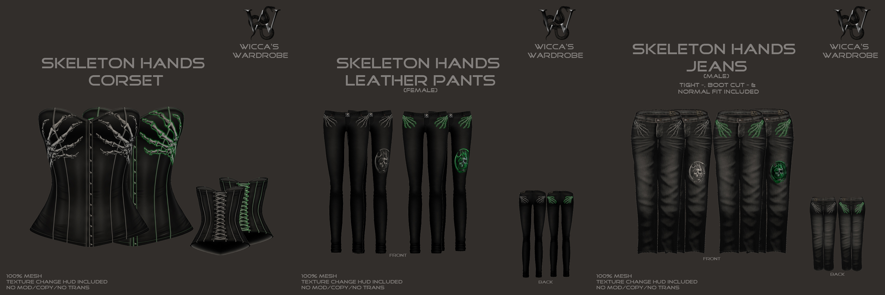 Skeleton Hands Corsets and Pants for Blog