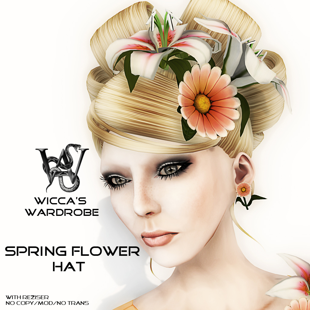 Spring Flower Hat Vendor with letters