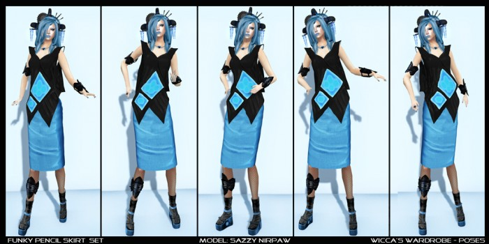 WM - Poses - Funky Pencil Skirt Set