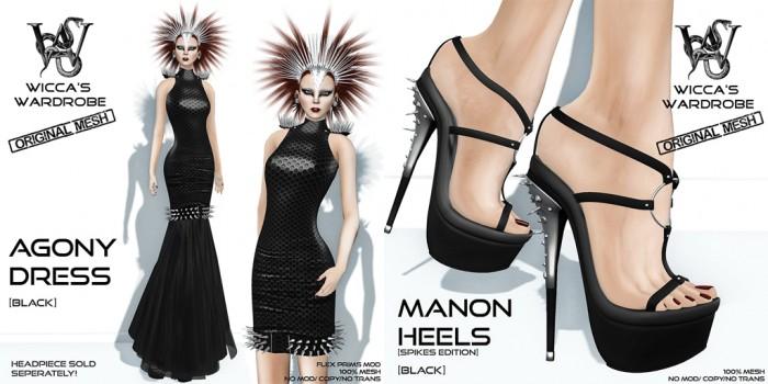Wicca's Wardrobe - Agony+Manon