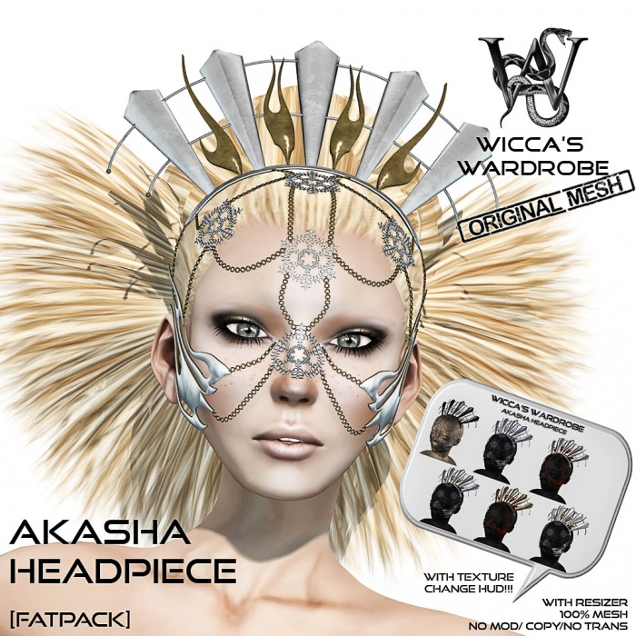 Wicca's Wardrobe - Akasha Headpiece (Fatpack) Vendor