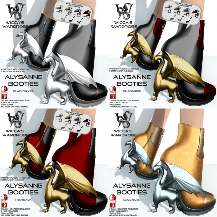 Wicca's Wardrobe - Alysanne Booties (all-all)