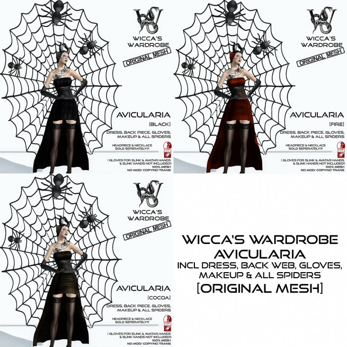 Wicca's Wardrobe - Avicularia (all)