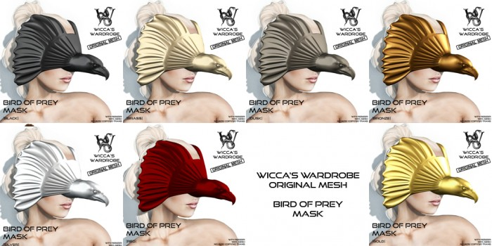Wicca's Wardrobe - Bird of Prey Mask (All Colors)