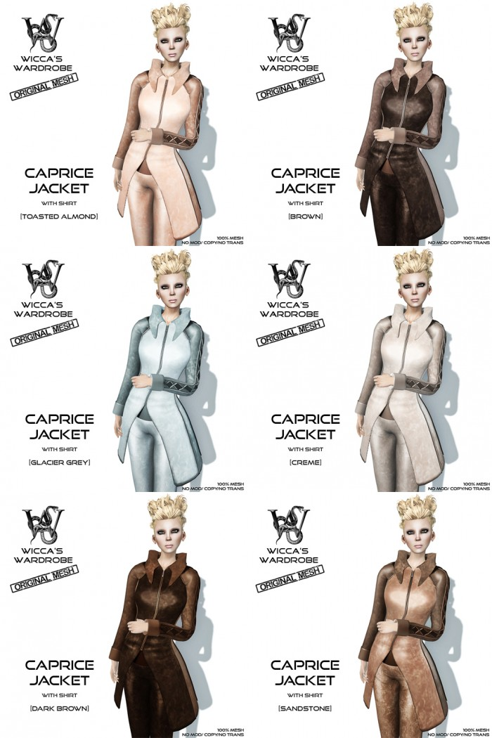 Wicca's Wardrobe - Caprice Jacket (All)