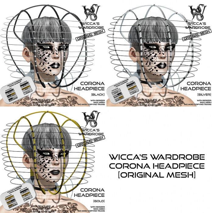 Wicca's Wardrobe - Corona Headpiece (ALL)