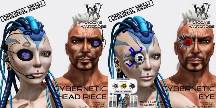 Wicca's Wardrobe - Cyber Eye & Headpiece