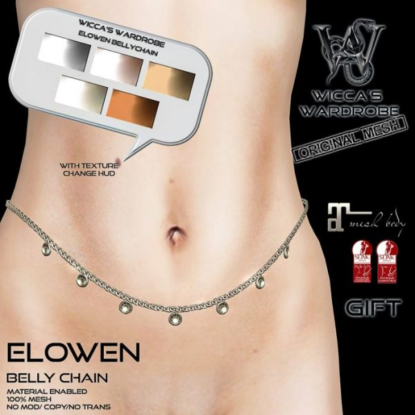 Wicca's Wardrobe - Elowen Belly Chain Gift Vendor