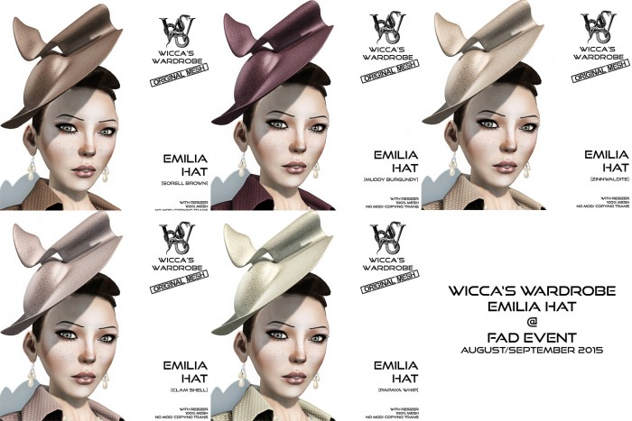 Wicca's Wardrobe - Emilia Hat FAD Aug-Sept 2015