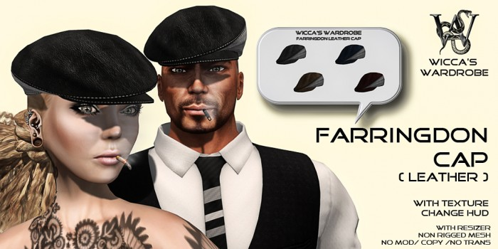 Wicca's Wardrobe - Farringdon Cap [Leather] Vendor