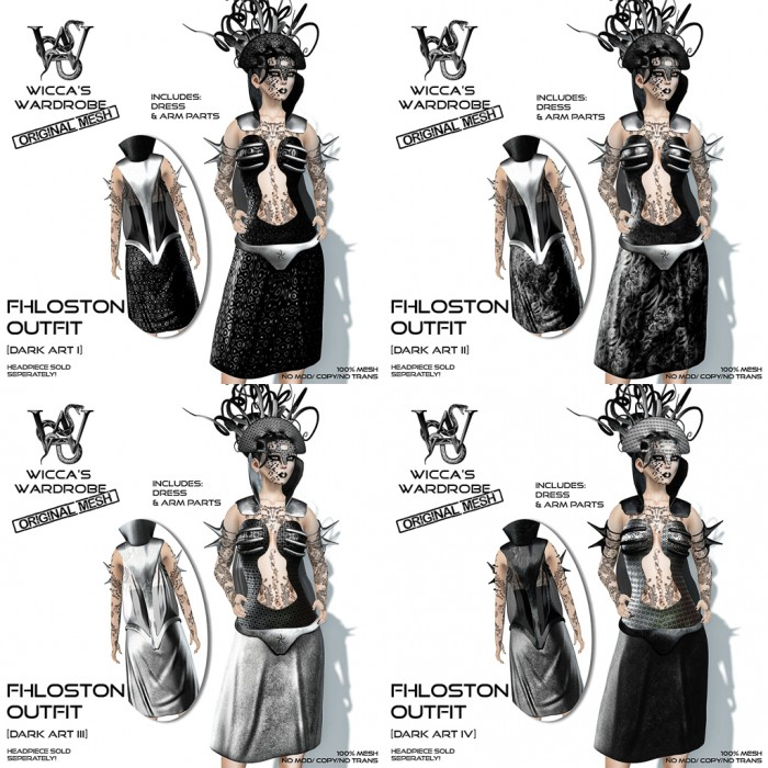 Wicca's Wardrobe - Fhloston Outfit (Dark Art) All