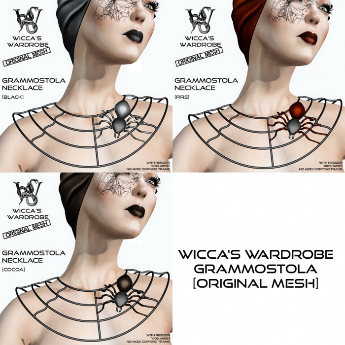 Wicca's Wardrobe - Grammostola Necklace (all)