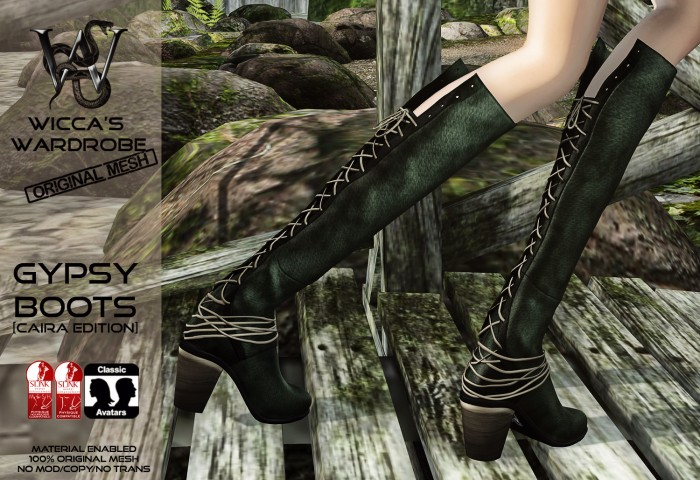 Wicca's Wardrobe - GypsyBoots Caira Edition Teaser