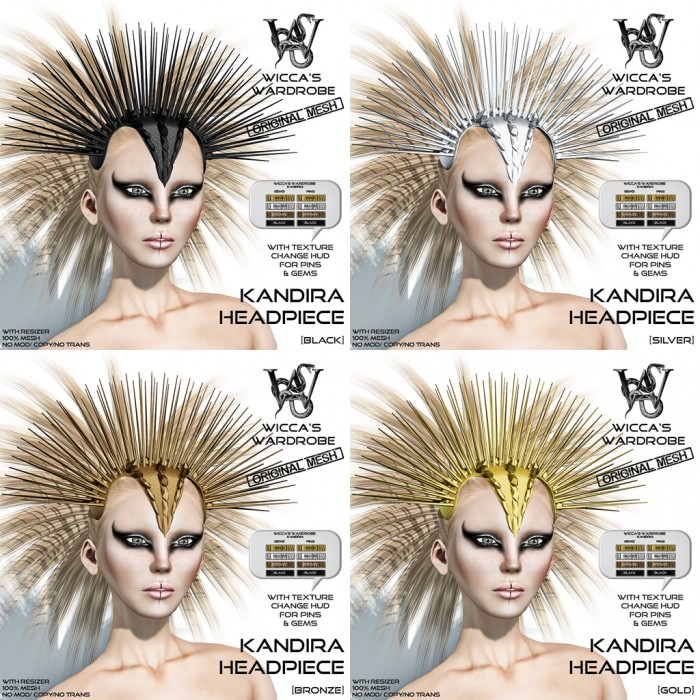 Wicca's Wardrobe - Kandira Headpiece (all)