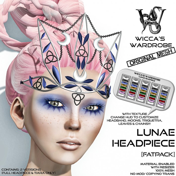 Wicca's- Wardrobe - Lunae Headpiece (Fatpack) Vendor