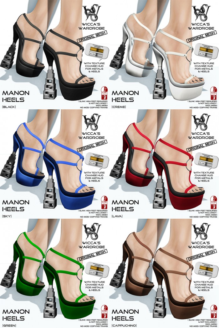 Wicca's Wardrobe - Manon Heels All
