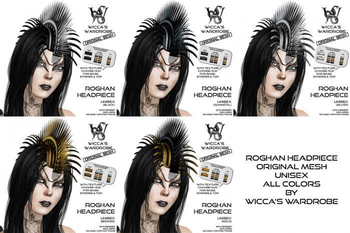 Wicca's Wardrobe - Roghan Headpiece (all)