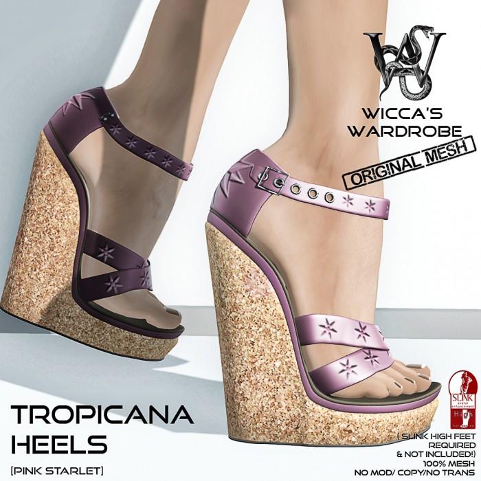 Wicca's Wardrobe - Tropicana Heels (Pink Starlet) Vendor