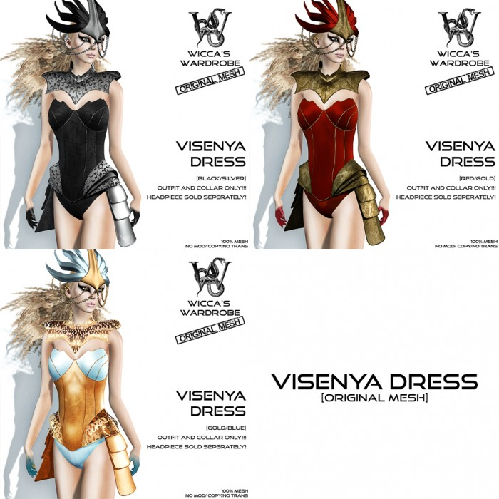 Wicca's Wardrobe - Visenya Dress (all)