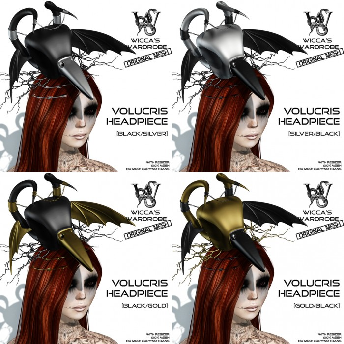 Wicca's Wardrobe - Volucris Headpiece (all)