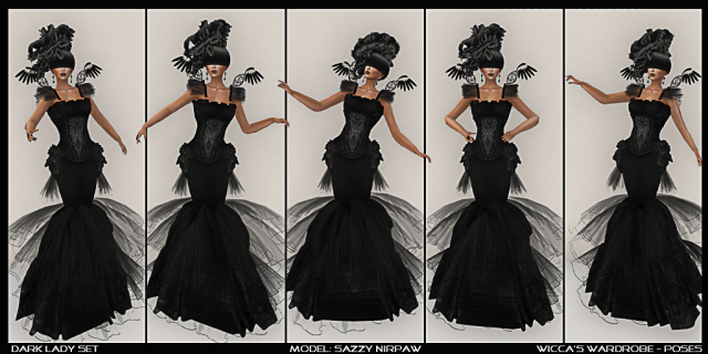 Poses for Photography & Runway Modeling (Second Life)