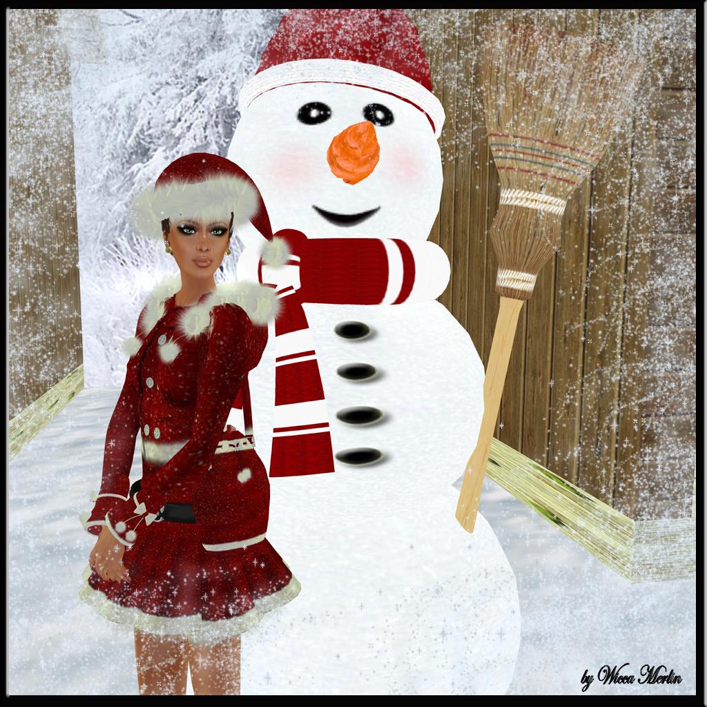 Inga Wind - Santa Girl in red and blue 123
