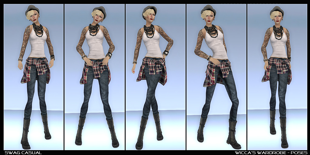 WM - Poses - Swag Casual Set