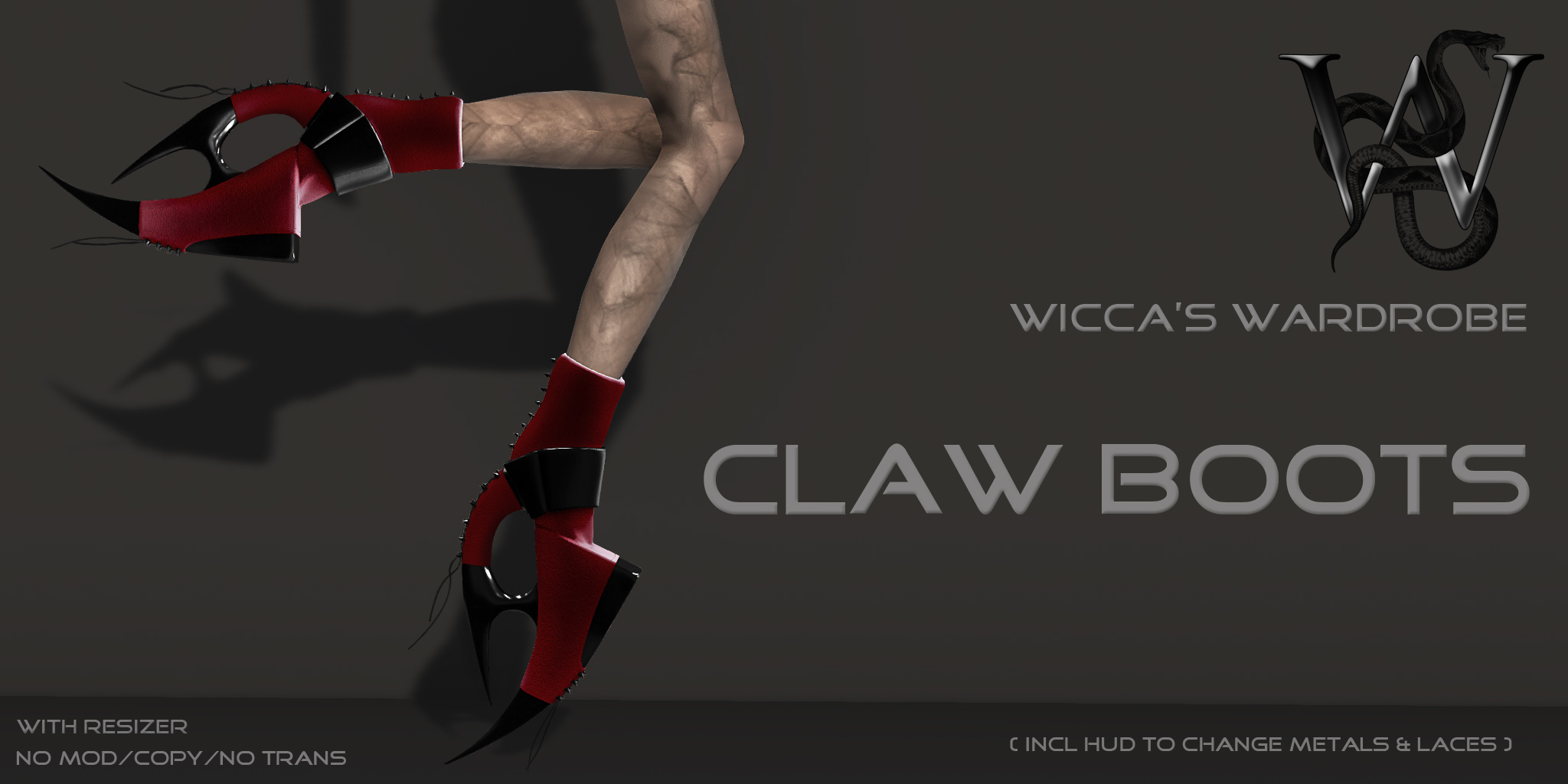 Claw Boots Add + letters