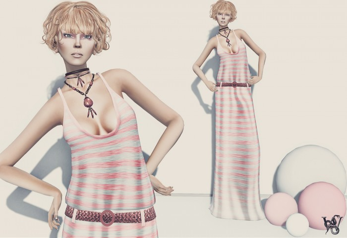 "Look #1: Tres Beau - ""Breeze"" (melon)"